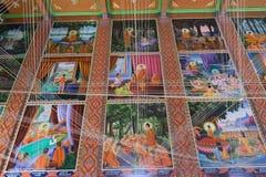 BANGKOK, TAILANDIA - 24 OTTOBRE 2017; Arte storica di Buddha dentro Immagine Stock Libera da Diritti