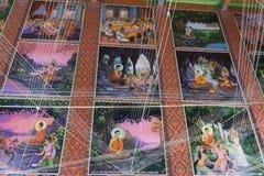 BANGKOK, TAILANDIA - 24 OTTOBRE 2017; Arte storica di Buddha dentro Fotografie Stock Libere da Diritti