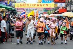 Bangkok, Tailandia: Parata della strada di Khao San Immagini Stock Libere da Diritti