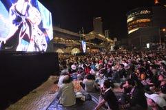 Bangkok, Tajlandia/- 01 14 2014: Żółte koszula blokują Asok i zajmują jako część ` zamknięcia Bangkok ` operaci Zdjęcie Royalty Free