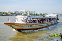 Bangkok, Tajlandia: Chao Praya rzeki Ferryboat Obrazy Royalty Free