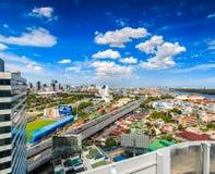 BANGKOK TAJLANDIA, Czerwiec, - 21, 2016: Bangkok widok, Odgórny widok od wierza Zdjęcia Stock