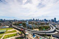 BANGKOK TAJLANDIA, Czerwiec, - 21, 2016: Bangkok widok, Odgórny widok od wierza Zdjęcie Stock