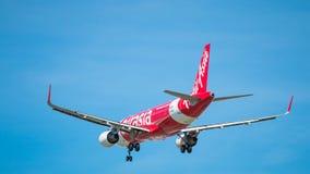 BANGKOK TAJLANDIA, CZERWIEC, - 1, 2015: HS-BBG Aerobus A320-216 Tajlandzki Obrazy Stock