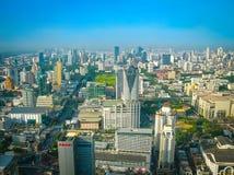 Bangkok, Tajlandia - 30 2008 Czerwiec: Panorama blisko Petchburi droga Obraz Stock