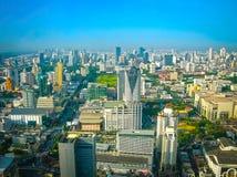 Bangkok, Tajlandia - 30 2008 Czerwiec: Panorama blisko Petchburi droga Fotografia Stock
