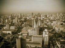 Bangkok, Tajlandia - 30 2008 Czerwiec: Panorama blisko Petchburi droga Fotografia Royalty Free