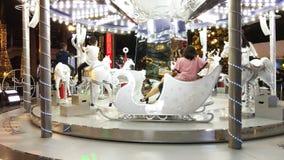 BANGKOK TAJLANDIA: GRUDZIEŃ 4 2018: Bożonarodzeniowe Światła I carousel Przy Bangkok, Tajlandia zbiory