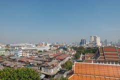 BANGKOK TAJLANDIA, Grudzień, - 21 2017: Widok Bangkok od Złotej góry przy Watem Saket Obrazy Stock