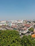 BANGKOK TAJLANDIA, Grudzień, - 21 2017: Widok Bangkok od Złotej góry przy Watem Saket Zdjęcia Royalty Free