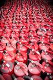 BANGKOK, TAJLANDIA - JULY18, 2017: Mnóstwo stary pożarniczy extinguishe zdjęcia royalty free