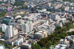 BANGKOK TAJLANDIA, KWIECIEŃ, - 21, 2015: Panoramiczny widok z lotu ptaka Bangkok w pięknym wiosna ranku Bangkok, Tajlandia Obrazy Royalty Free