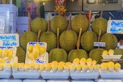 Bangkok Tajlandia, Kwiecień, - 23, 2017: Organicznie durian dur i owoc Zdjęcie Royalty Free