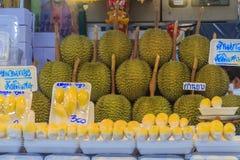 Bangkok Tajlandia, Kwiecień, - 23, 2017: Organicznie durian dur i owoc Zdjęcia Stock