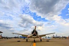 BANGKOK TAJLANDIA, LIPIEC, - 02: Grumman F8F Bearcat Obrazy Stock