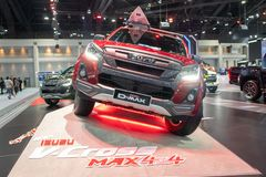 Bangkok Tajlandia, Listopad, - 30, 2018: ISUZU D-MAX samochodowy przedstawienie przy Tajlandia zawody międzynarodowi silnika expo fotografia stock