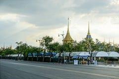 Bangkok, Tajlandia: Listopad 29, 2017 Królewski Crematorium dla HM królewiątko Bhumibol Adulyadej przy Sanum Luang Zdjęcie Royalty Free