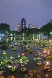 BANGKOK TAJLANDIA, LISTOPAD 25 -: Loy Krathong festiwal Zdjęcia Royalty Free