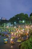 BANGKOK TAJLANDIA, LISTOPAD 25 -: Loy Krathong festiwal Zdjęcia Stock