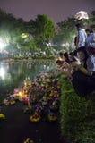 BANGKOK TAJLANDIA, LISTOPAD 25 -: Loy Krathong festiwal Obraz Stock