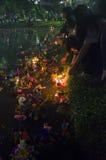 BANGKOK TAJLANDIA, LISTOPAD 25 -: Loy Krathong festiwal Fotografia Stock