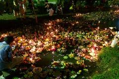 Bangkok Tajlandia 6 2014 Listopad - Loy krathong festiwal przy lumphini parkiem Obrazy Royalty Free