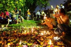 Bangkok Tajlandia 6 2014 Listopad - Loy krathong festiwal przy lumphini parkiem Fotografia Royalty Free