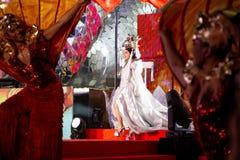 BANGKOK TAJLANDIA, LUTY, - 2018: Chiński nowego roku świętowania przedstawienie przy EmQuartier i emporium centrum handlowym zdjęcie stock
