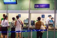 Bangkok Tajlandia, Luty, - 22, 2017: Niezidentyfikowani pasażerscy bu Zdjęcie Royalty Free