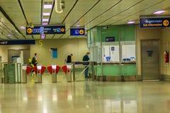 Bangkok Tajlandia, Luty, - 22, 2017: Niezidentyfikowani pasażerscy bu Zdjęcia Stock
