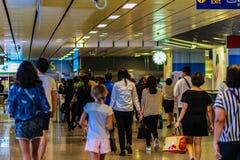 Bangkok Tajlandia, Luty, - 22, 2017: Niezidentyfikowani pasażery a Obraz Royalty Free