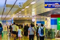 Bangkok Tajlandia, Luty, - 22, 2017: Niezidentyfikowani pasażery a Fotografia Royalty Free