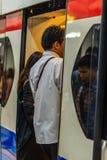 Bangkok Tajlandia, Luty, - 28, 2017: Niezidentyfikowany pasażerski wa Fotografia Stock