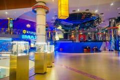 BANGKOK, TAJLANDIA, LUTY 02, 2018: Salowy widok Siam Paragon zakupy centrum handlowe Z 16 ekran i 5.000 siedzenie, the Obraz Stock