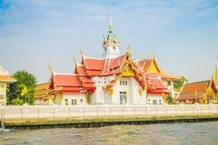 BANGKOK TAJLANDIA, LUTY, - 09, 2018: Sceneria Wat Benchamabophit lub sławna Marmurowa świątynia, tradycyjny Tajlandzki Zdjęcia Stock