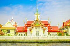 BANGKOK TAJLANDIA, LUTY, - 09, 2018: Sceneria Wat Benchamabophit lub sławna Marmurowa świątynia, tradycyjny Tajlandzki Obrazy Stock