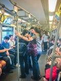 Bangkok Tajlandia, Luty, - 28, 2017: Tłum pasażery na BT Zdjęcie Stock