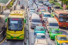 Bangkok Tajlandia, Luty, - 21, 2017: Widok Bangkok JASKRAWY, Obrazy Stock
