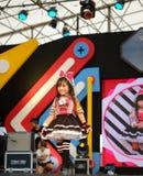 BANGKOK TAJLANDIA, MAJ, - 8: Dzieciaka model chodzi pas startowego obrazy stock
