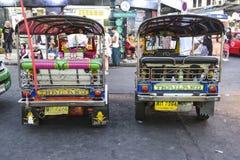 Bangkok, Tajlandia, 3 2016 marsz: Tuk Tuk na ulicie w Tajlandia obraz royalty free