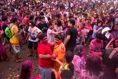 Bangkok Tajlandia 27 Marzec 2016: Holi festiwal, Holi Rangotsav przy Thammasat uniwersytetem, na 27 Marzec 2016 w Bangkok, Tajlan Fotografia Stock