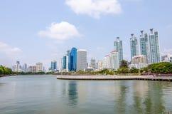 BANGKOK TAJLANDIA, Marzec -, 12 2016: Pejzażu miejskiego widok budynki Zdjęcia Royalty Free