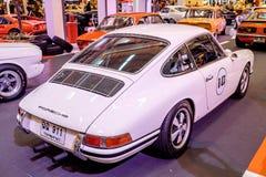 BANGKOK, TAJLANDIA, - MARZEC 11 2018: Rocznik samochodowy Porsche 911 SWB: 1966 pokazywał w klasycznym motorowym przedstawieniu p Zdjęcie Stock