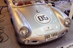 BANGKOK, TAJLANDIA, - MARZEC 11 2018: Rocznika Porsche 550 samochodowy spyde: 1953-1956 pokazywał w klasycznym motorowym przedsta Obrazy Royalty Free