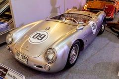 BANGKOK, TAJLANDIA, - MARZEC 11 2018: Rocznika Porsche 550 samochodowy spyde: 1953-1956 pokazywał w klasycznym motorowym przedsta Zdjęcie Royalty Free