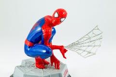 Bangkok Tajlandia, Marzec, - 27, 2016: Studio strzelający Spider-Man f obrazy royalty free