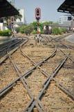 BANGKOK, TAJLANDIA Marzec 03,2016: Taborowa stacja kolejowa Hua Lamphong Obraz Stock