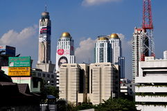 Bangkok, Tajlandia: Miasto linii horyzontu widok Obraz Royalty Free
