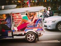 Bangkok, Tajlandia na Grudniu 2017: Songkran i lato przy tajlandzkim Obrazy Royalty Free