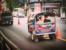 Bangkok, Tajlandia na Grudniu 2017: Songkran i lato przy tajlandzkim Zdjęcia Stock